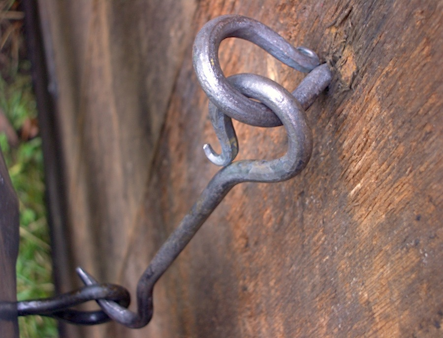 Hand forged ironwork.