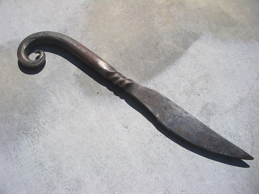 Island Blacksmith: Hand forged knives.