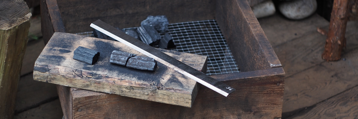 Island Blacksmith: Hand made softwood charcoal for traditional Japanese bladesmithing.