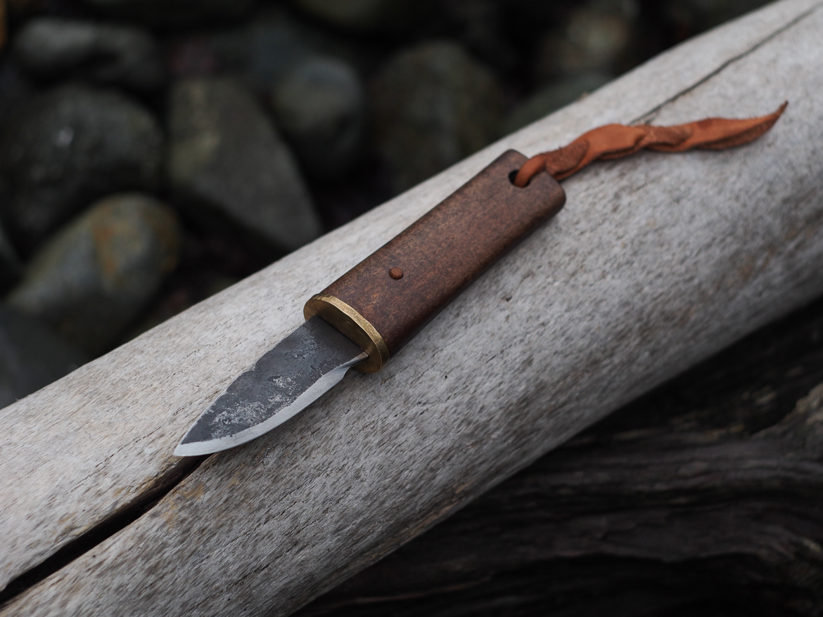 Island Blacksmith: Hand forged knives reclaimed from files and saw blades.