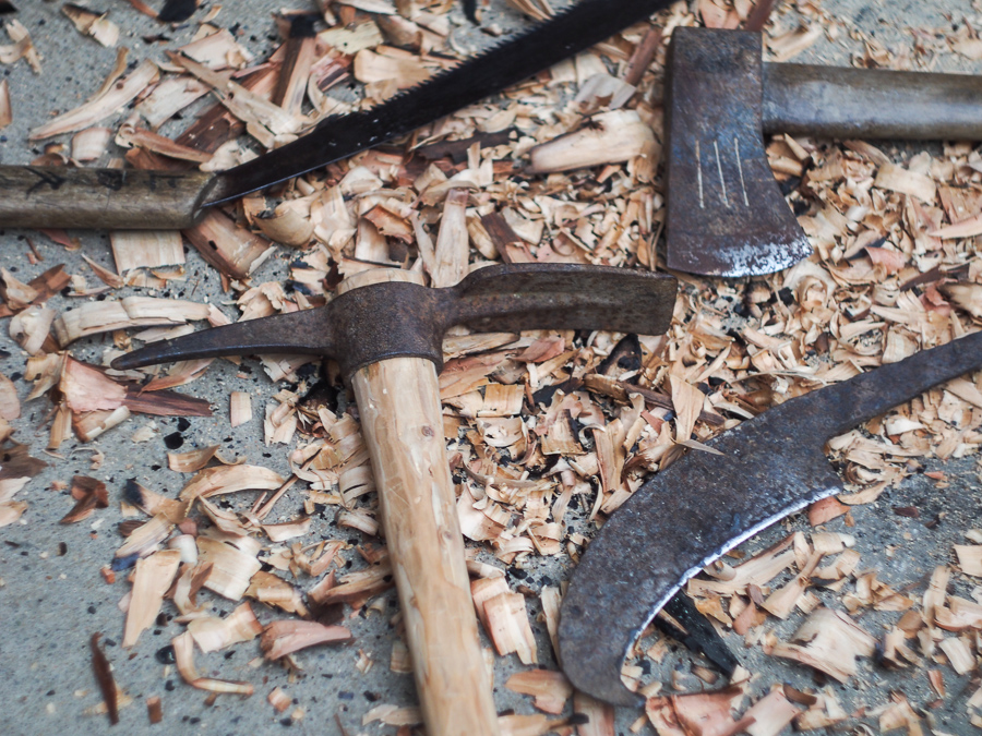 Vancouver Island Blacksmith in Japan: Antique Japanese Farming Tools.
