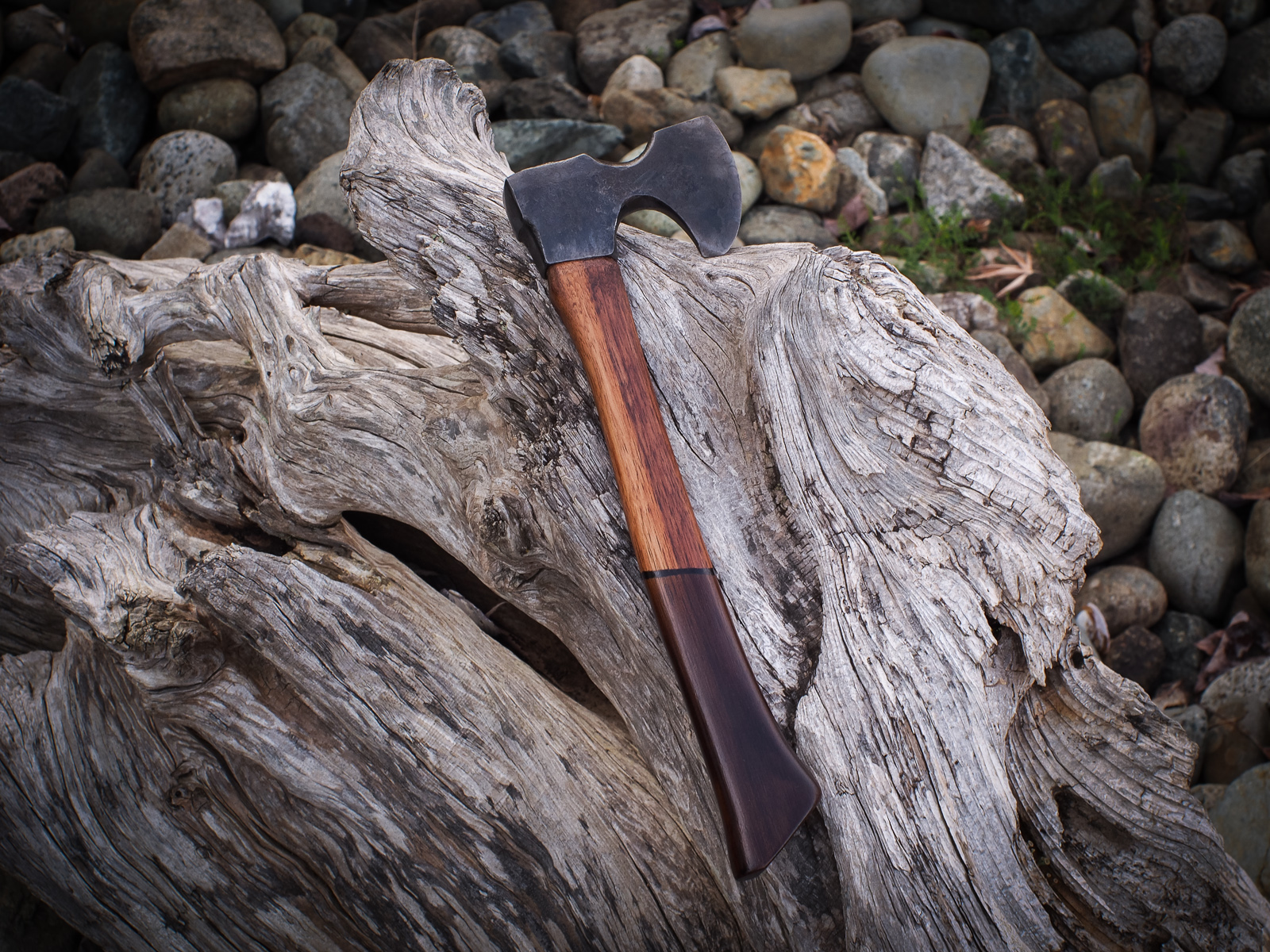 Island Blacksmith: Hand forged reclaimed hiking hatchet made from antique tools