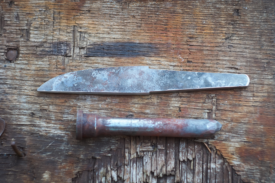 Island Blacksmith: Hand forged knives from reclaimed steel.