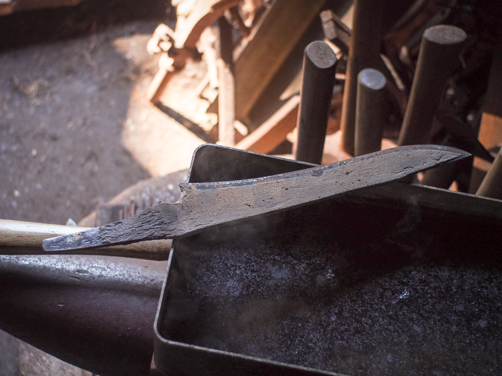 Island Blacksmith: Charcoal forged blades made from reclaimed and natural materials using traditional techniques
