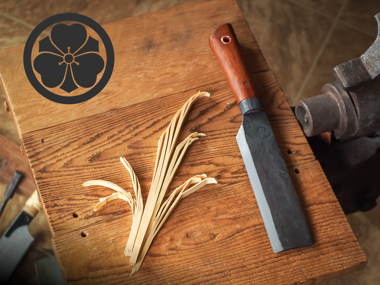 Island Blacksmith: Charcoal forged nihonto fusion knives made from reclaimed and natural materials using traditional techniques