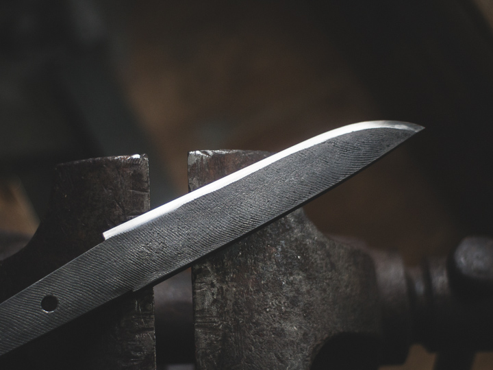 Island Blacksmith: Charcoal forged knives from reclaimed steel.
