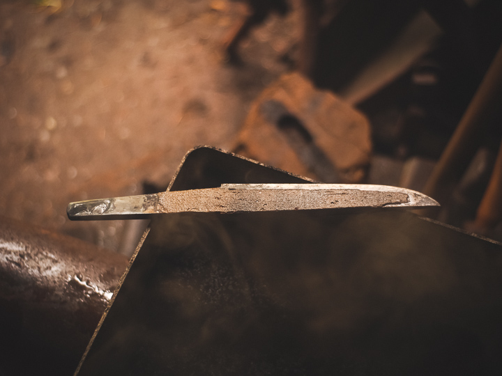 Island Blacksmith: Hand forged reclaimed tanto made from reclaimed and natural materials