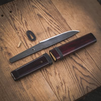 Tools for Satoyama: Design a knife, hand crafted on Vancouver Island.