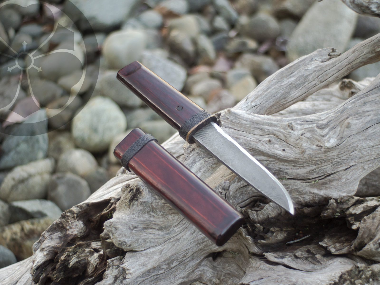 Island Blacksmith: Charcoal forged knives reclaimed from files.