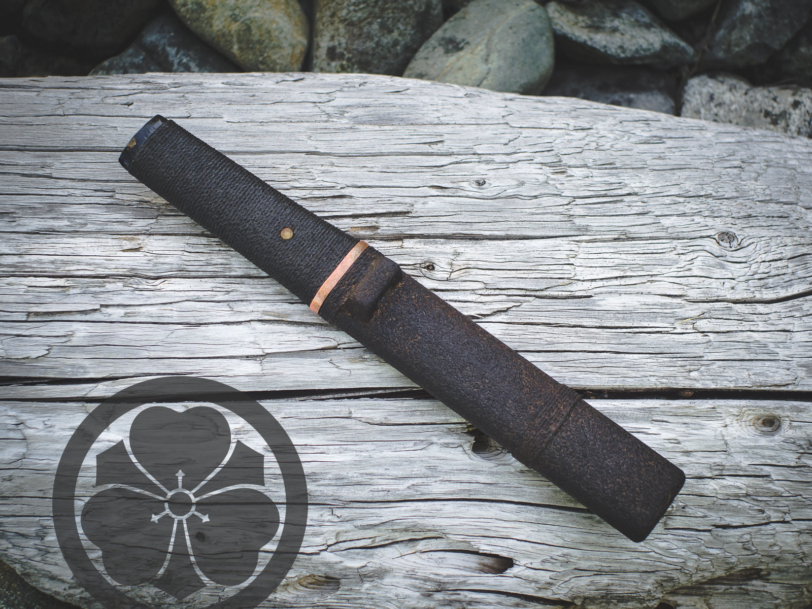 Island Blacksmith: Charcoal forged knives reclaimed from farm equipment.