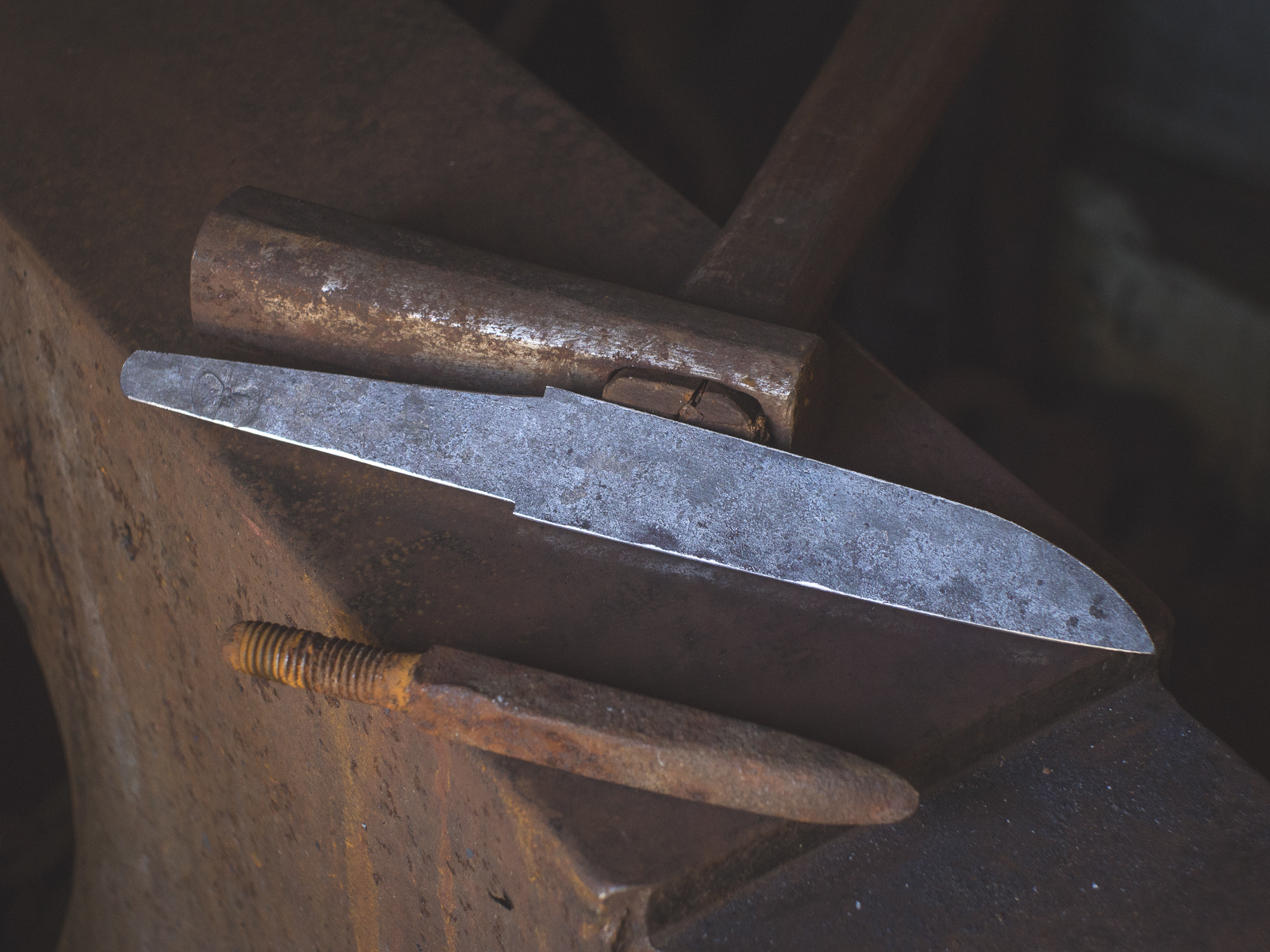 Island Blacksmith: Charcoal forged knives from reclaimed farm equipment.