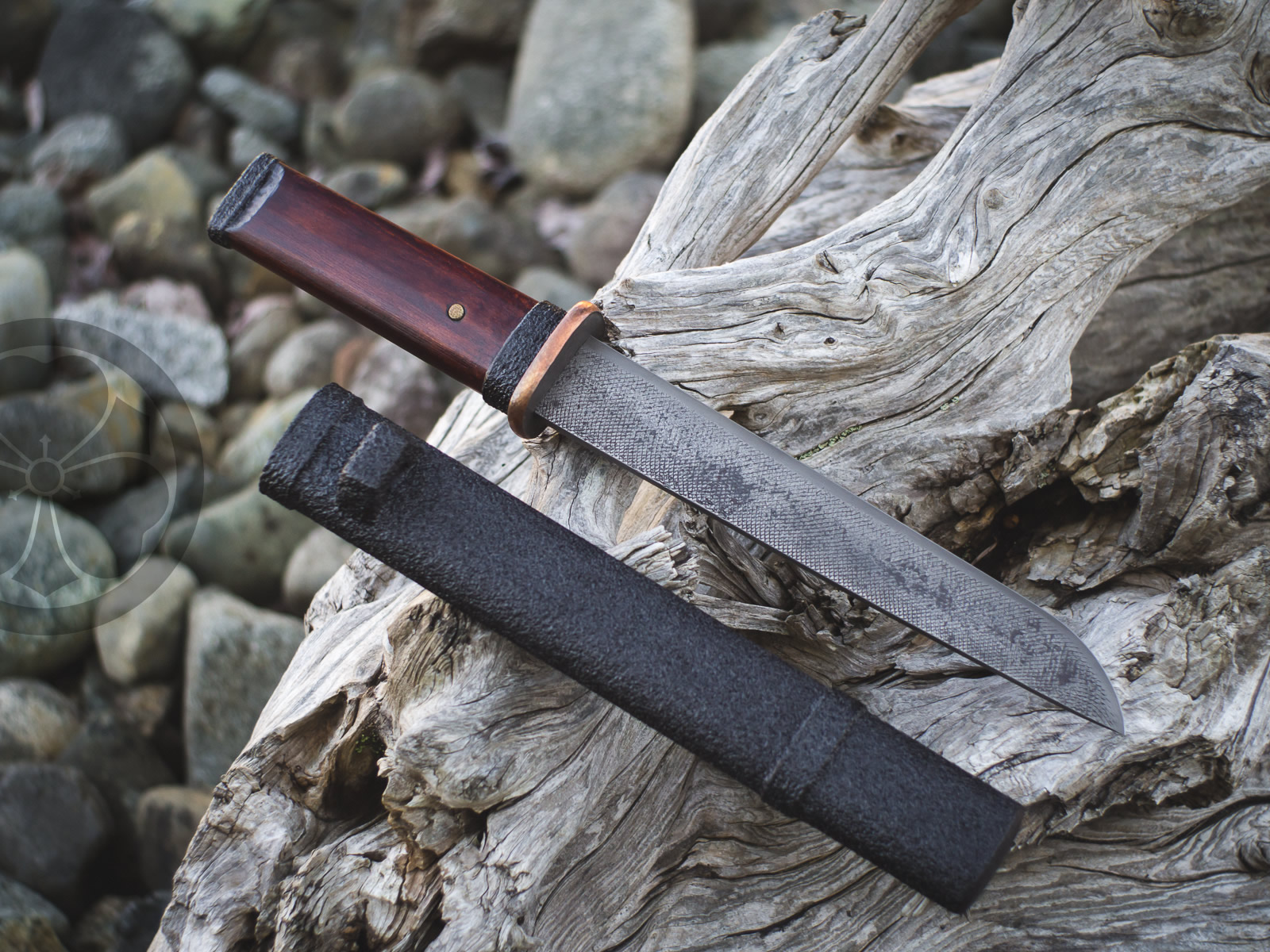 Island Blacksmith: Charcoal forged knives from reclaimed materials.
