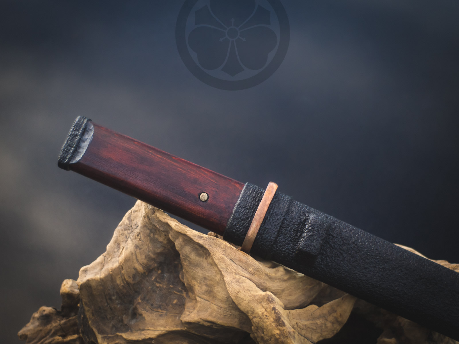 Island Blacksmith: Charcoal forged tanto from reclaimed files.