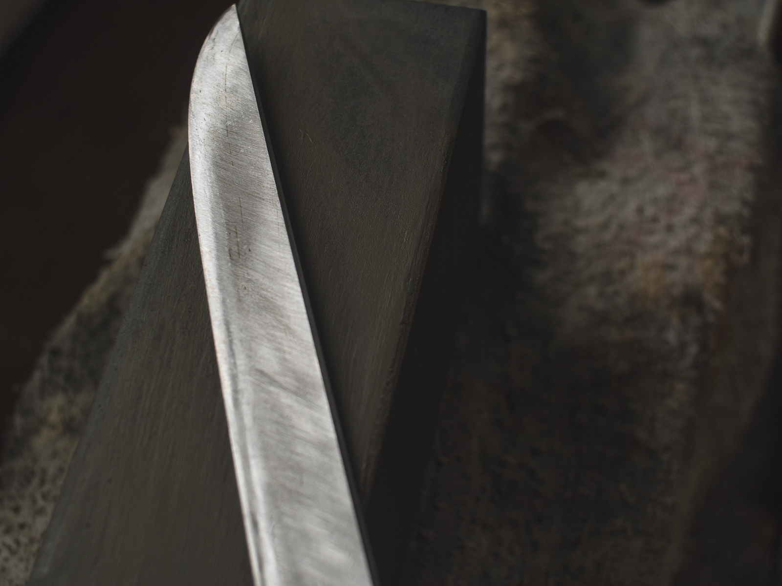 Island Blacksmith: Hand forged reclaimed tanto made with traditional techniques