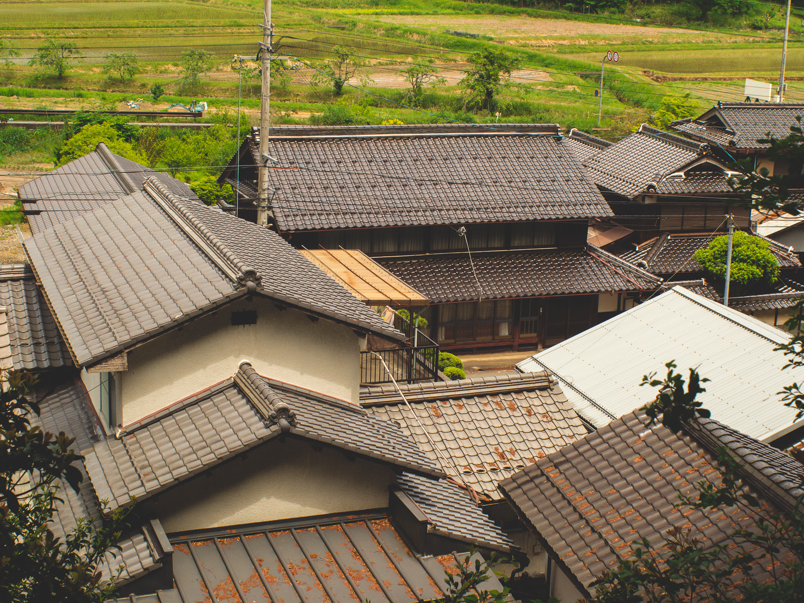 Traditional Japanese architecture in the rural countryside