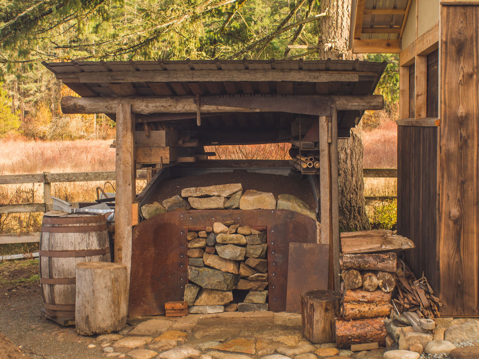 Building a Charcoal Making Kiln