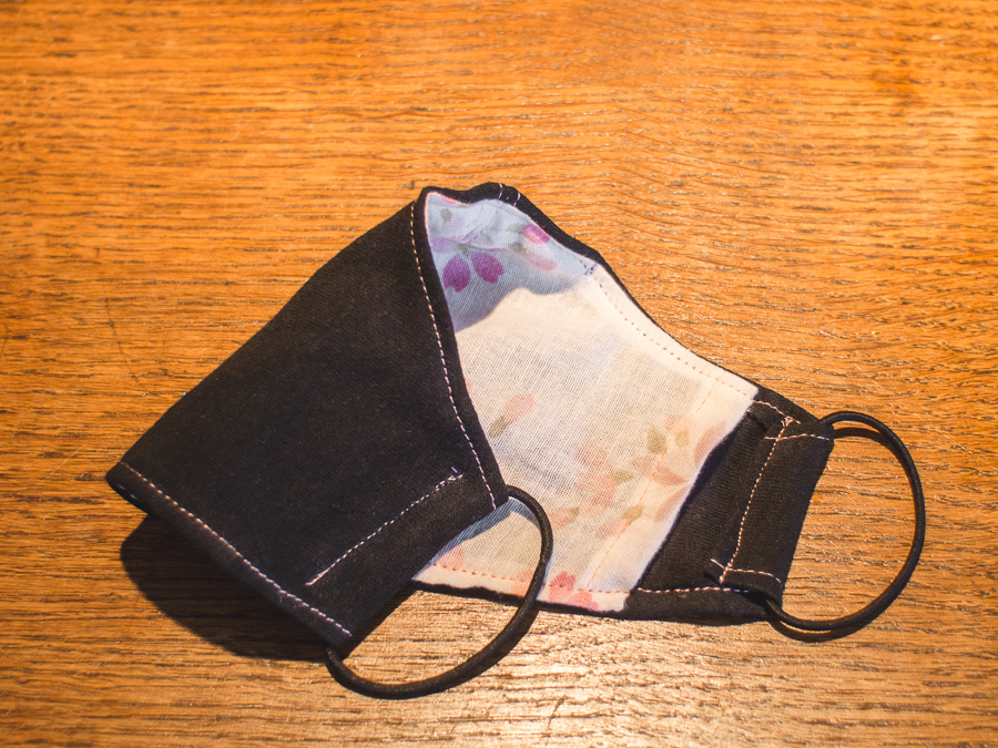The Axe - Japanese style DIY cotton cloth mask with filter pocket.