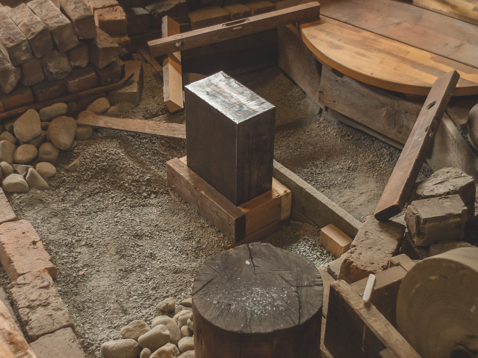 Island Blacksmith: Traditional Japanese style swordsmith anvil.