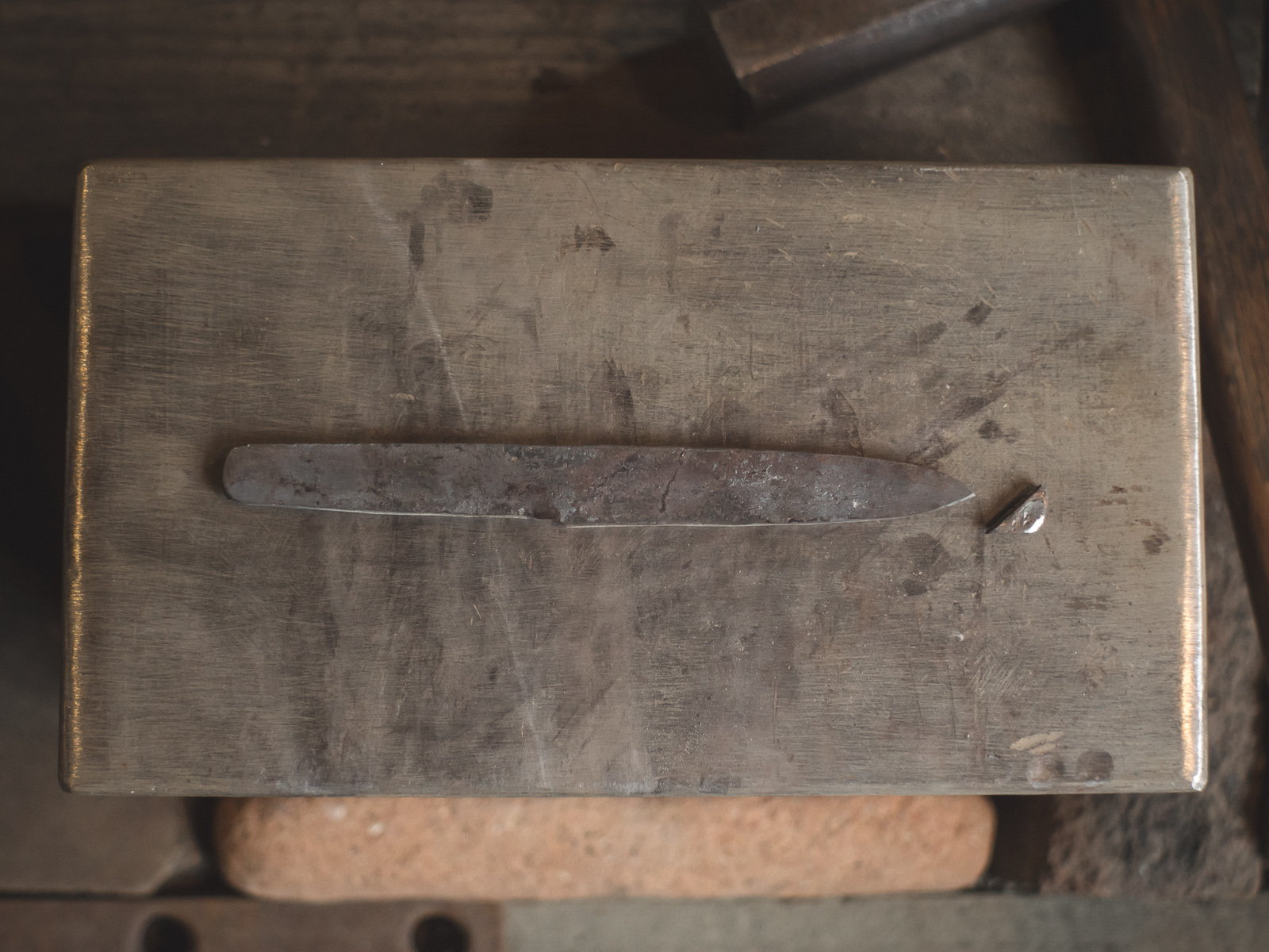 Island Blacksmith: Charcoal forged knives reclaimed from antique steel.